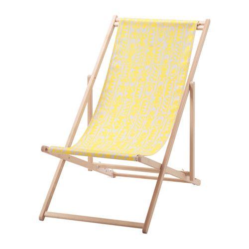 MYSINGSÖ Beach chair - yellow - IKEA