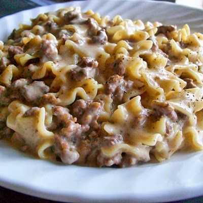 Ground Beef With Beijing Sauce Over Noodles Recipe — Dishmaps