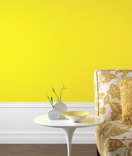 34 best images about yellow accent wall on pinterest Bright yellow wall paint