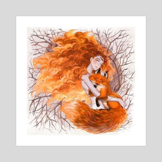 Fox #INPRNT #illustration #print #poster #art