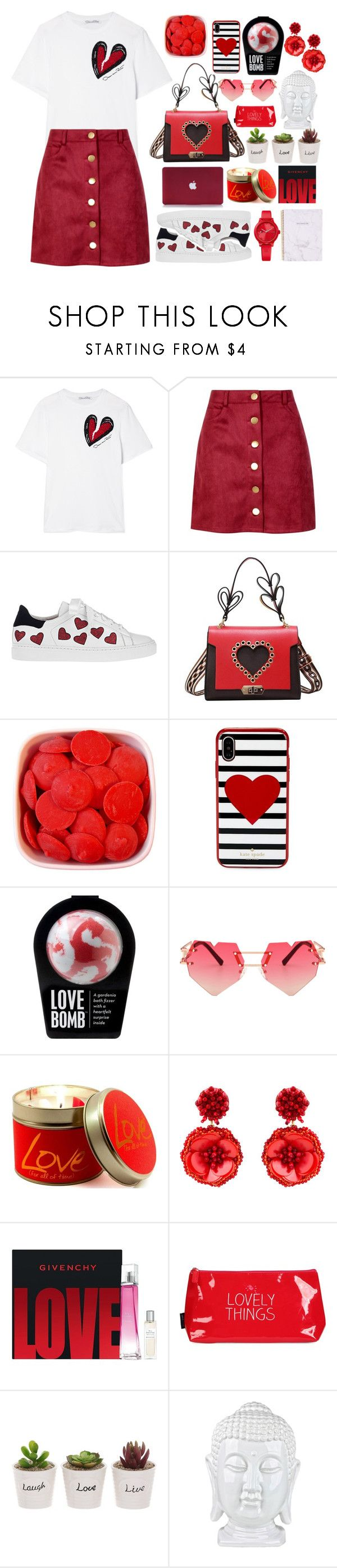 """""""#Hearts & Chic"""" by juliateodora on Polyvore featuring Oscar de la Renta, Boohoo, Steffen Schraut, Kate Spade, Lily-Flame, Mignonne Gavigan, Givenchy, Happy Jackson and Tommy Hilfiger"""