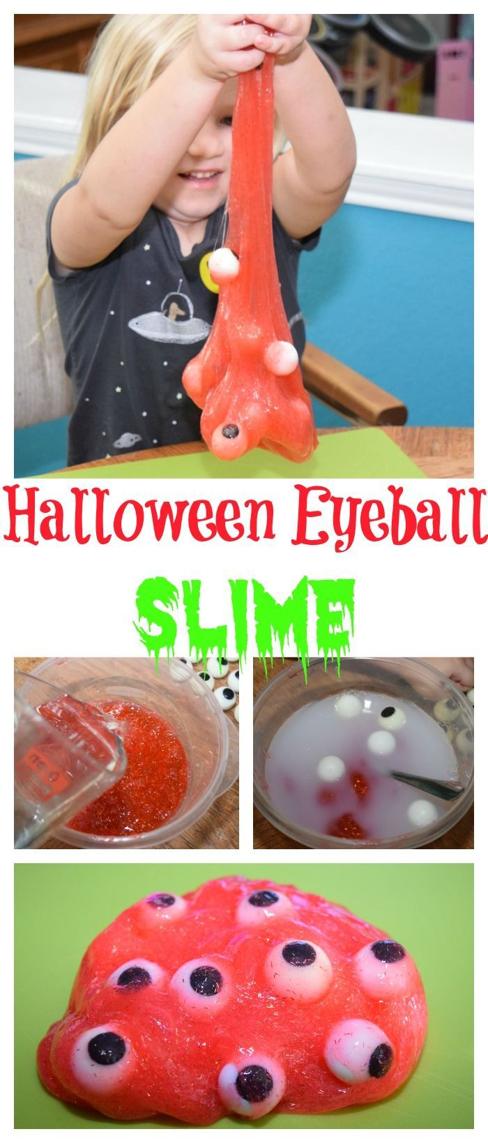Your kids can have some gross out fun and help you make some DIY Halloween Eyeball Slime! It's a totally fun craft! And clean up is a breeze on little ones with #WaterWipesWalgreens #ad