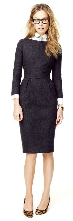 Workday chic black dress @roressclothes closet ideas women fashion outfit clothing style