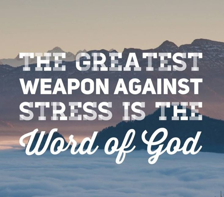 In God's Word there is rest and peace.