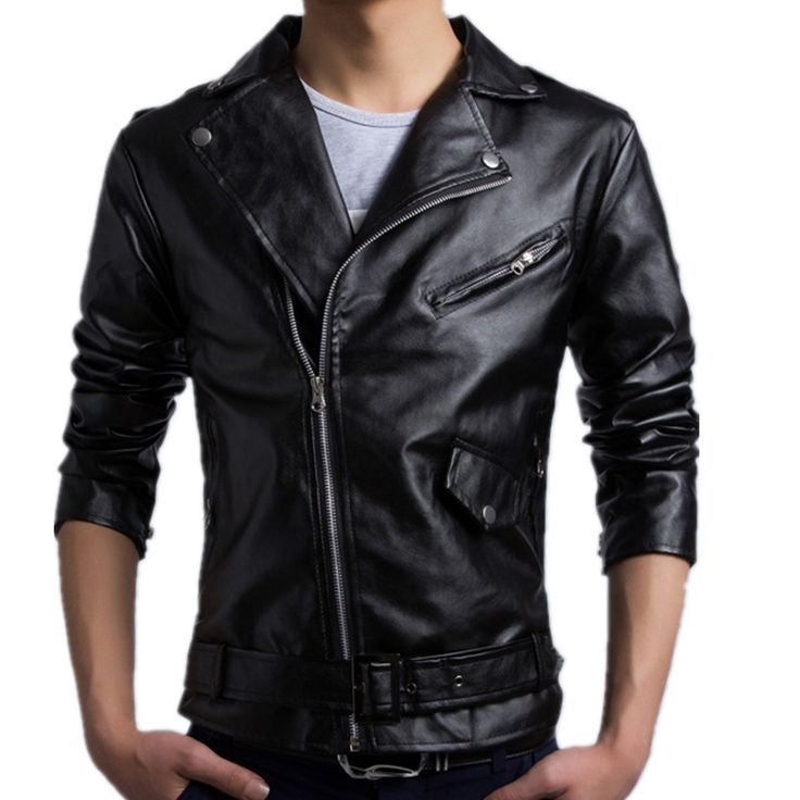 HD-DST 2016 new men's fashion leather jacket casual long sleeve turn-down collar solid color motorcycle autumn and winter coat