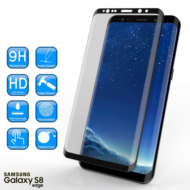Galaxy S8 Black Screen Protector, Punkcase Glass SHIELD Samsung Galaxy S8 Tempered Glass Screen Protector 0.33mm Thick 9H Glass Screen Protector  Punkcase Glass SHIELD is build with the highest quality tempered glass to obtain the best HD clear visibility. Punkcase Glass SHIELD covers the whole screen unlike other screen protectors from competitors. It also has 2.5D rounded edges, 0.33mm thick and has 9H hardness for superior protection. Punkcase designed the Glass SHIELD with an oleophobic…