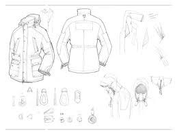 「jacket trim technical drawing」的圖片搜尋結果