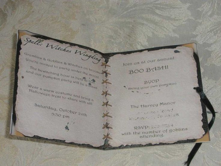 Image detail for -Witch spells wording halloween invitations | Invitations Ideas