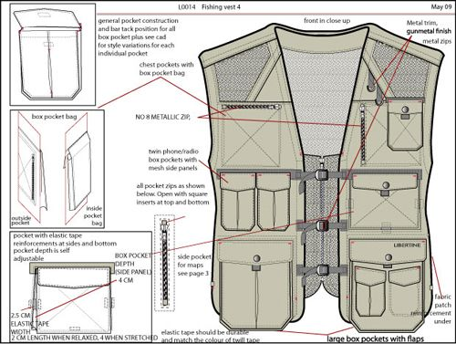 Fashion Design/ Menswear Image -  - tech pack