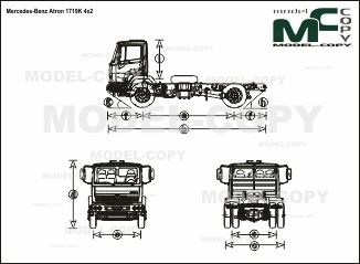 Mercedes-Benz Atron 1719K 4x2 - drawing
