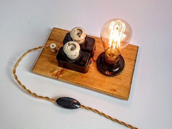 Steampunk Lampe Edison Lampe Industriebeleuchtung Tischleuchte Nachtlicht Edison Lampe Tischlampe Sicherung Lampe Coole Lampe Einstecken Edison Bulb Table Lamp Cool Lamps Steampunk Lamp
