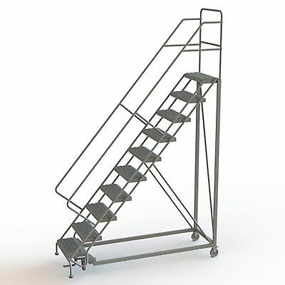 Ad Ebay Url 10 Step Steel Rolling Ladder W Serrated Steps Gry 100inh Top Step 24in 450lb Cap In 2020 Rolling Ladder Ladder Step Treads
