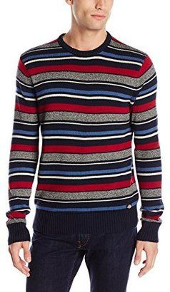Dickies Men's Jordan Allover Variegated-Stripe Sweater - Shop for women's Sweater - Navy Sweater