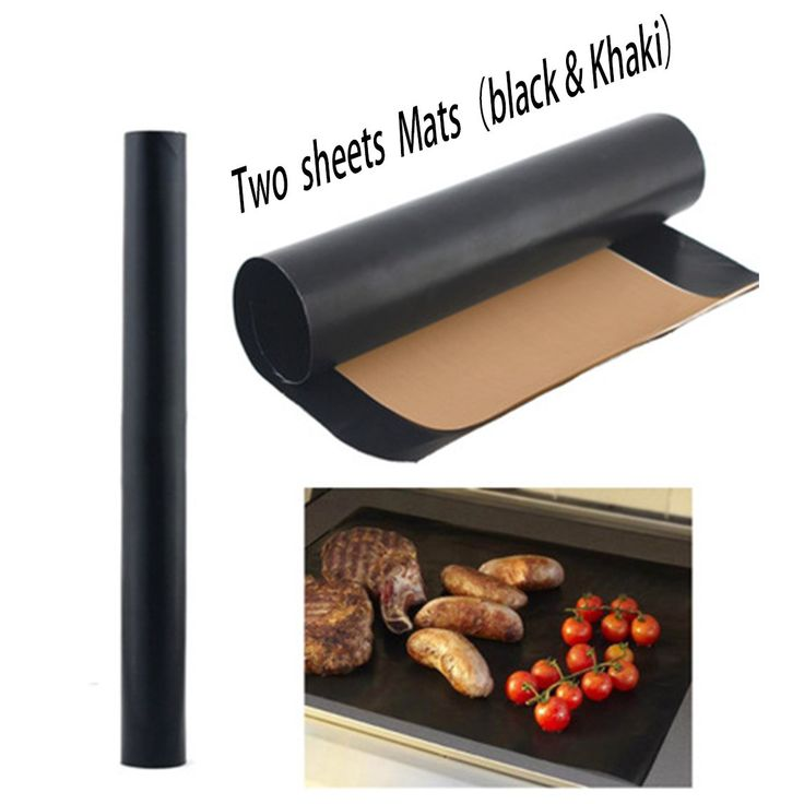 Grill and Bake Mats Set of 2 Nonstick BBQ Mats BPA Free Liners or Pan Liners Reusable and Easy to Clean, 1 Pack