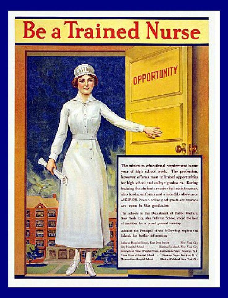 Vintage Medical Posters | Vintage Nursing Poster print Door of Opportunity Medical early 1900 by ...