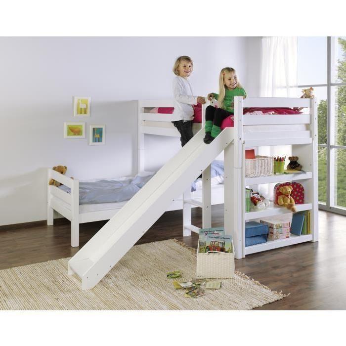 17 meilleures id es propos de lit en hauteur sur pinterest lit rangement - Lit superpose petite hauteur ...