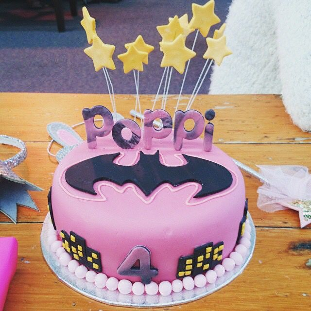 Batgirl cake for a special 4 year old