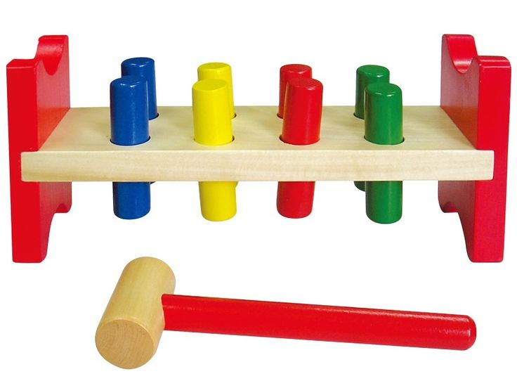 Studo Wood Zatloukačka kolíky #vánoce #dárek #narozeniny #svátek #nejmenší #hračky  #oslava #děti #rodina #3dmámablog.cz