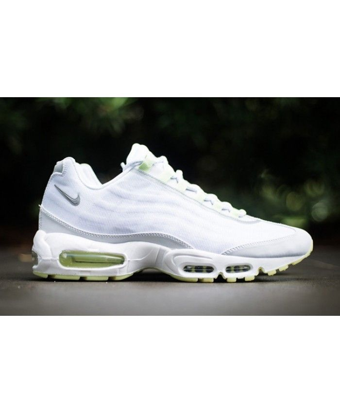 los angeles 5b536 2f5dd Nike Air Max 95 White Green Trainers Sale