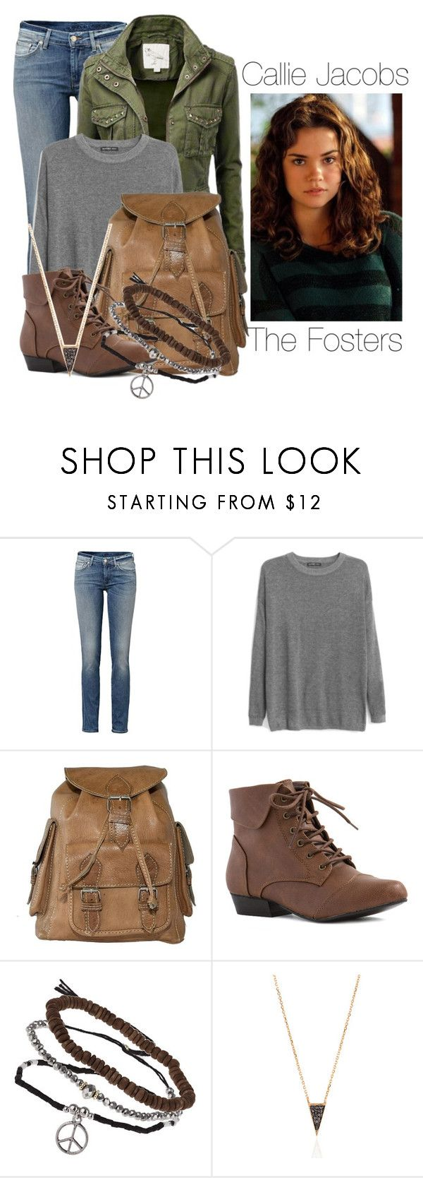 """""""Callie Jacobs- The Fosters"""" by twilight-vs-hunger-games-fan ❤ liked on Polyvore featuring MANGO and Topshop"""