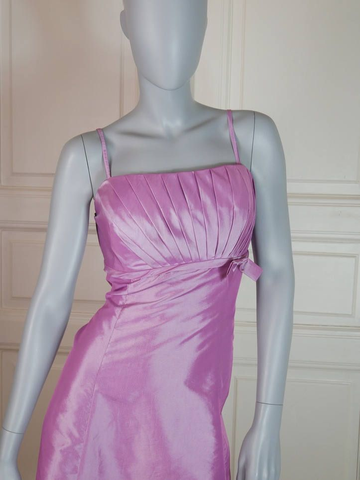 Hungarian Vintage Lilac Sleeveless Midi Cocktail Dress, Satin Weave, Princess Waistline, Mauve Dress, Light Purple Dress: Size 10 US, 14 UK by YouLookAmazing on Etsy