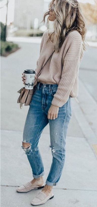 55dc8857f66 40+ Fabulous Fall Fashion Trends Clothing For Women  Fall outfits 2018  New  fall outfits 2018  casual outfit  sweater.