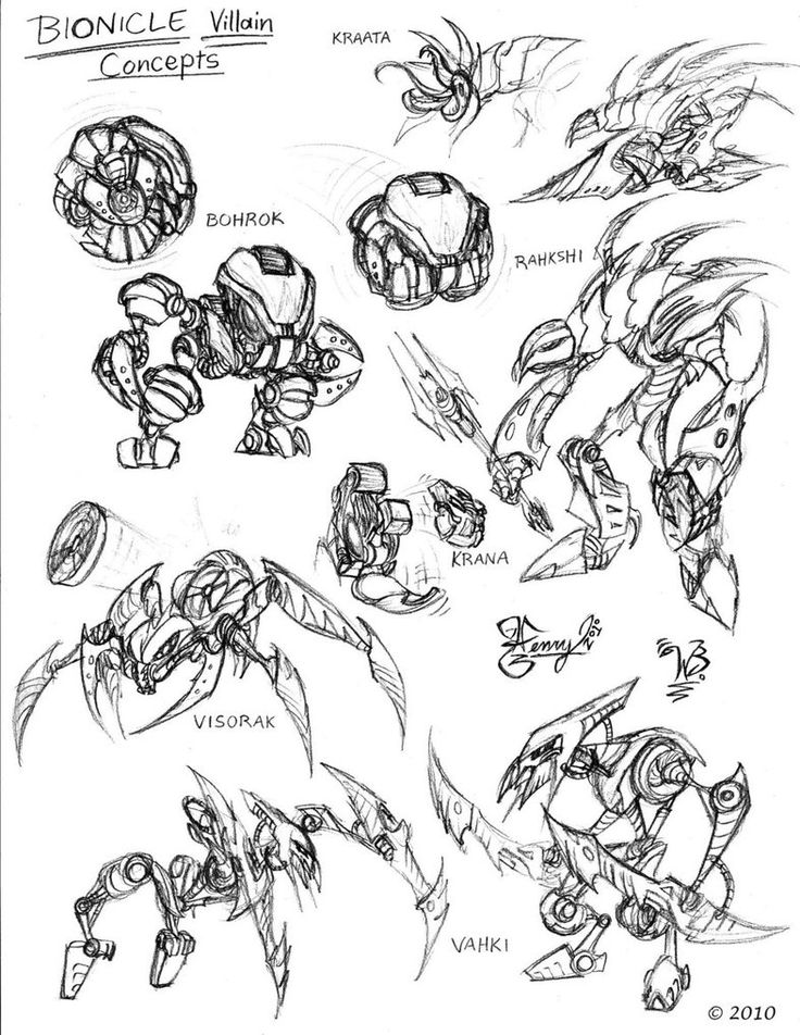 Just a few rough drafts I did from the Bionicle® franchise in a style similar to the Transformers movie design. I know this sketch looks like it was rushed through pretty quickly, but lets fac...