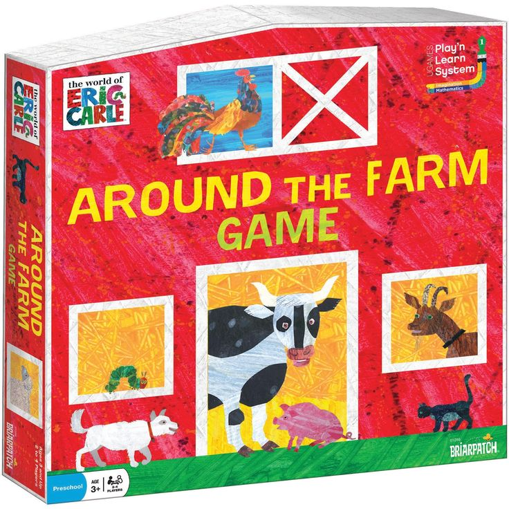UNIVERSITY GAMES Eric Carle Around The Farm Game-