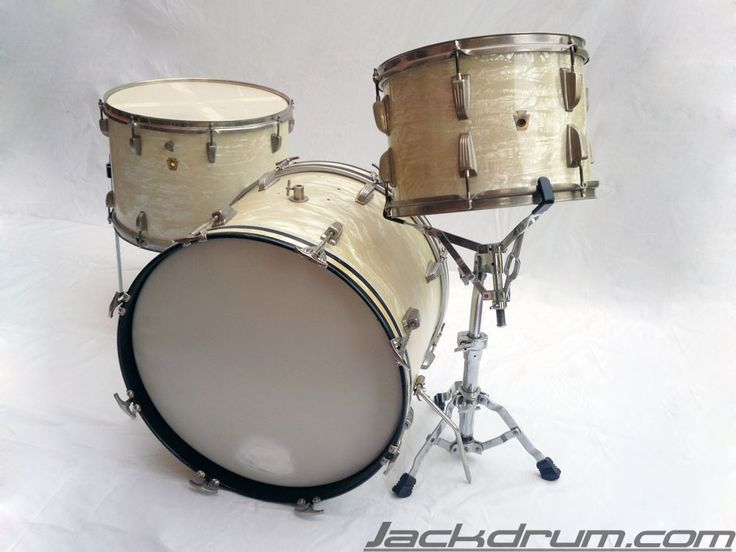 40 39 s 50 39 s 60 39 s vintage ludwig wfl white marine pearl for 18 inch floor tom for sale