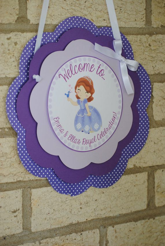 NEW  Sofia the First Door Sign by mlf465 on Etsy