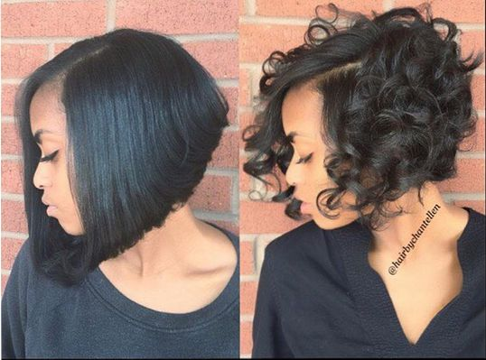 Curly And Straight Perfection @hairbychantellen... Which Do You Prefer? - http://community.blackhairinformation.com/hairstyle-gallery/short-haircuts/curly-and-straight-perfection-hairbychantellen-which-do-you-prefer/