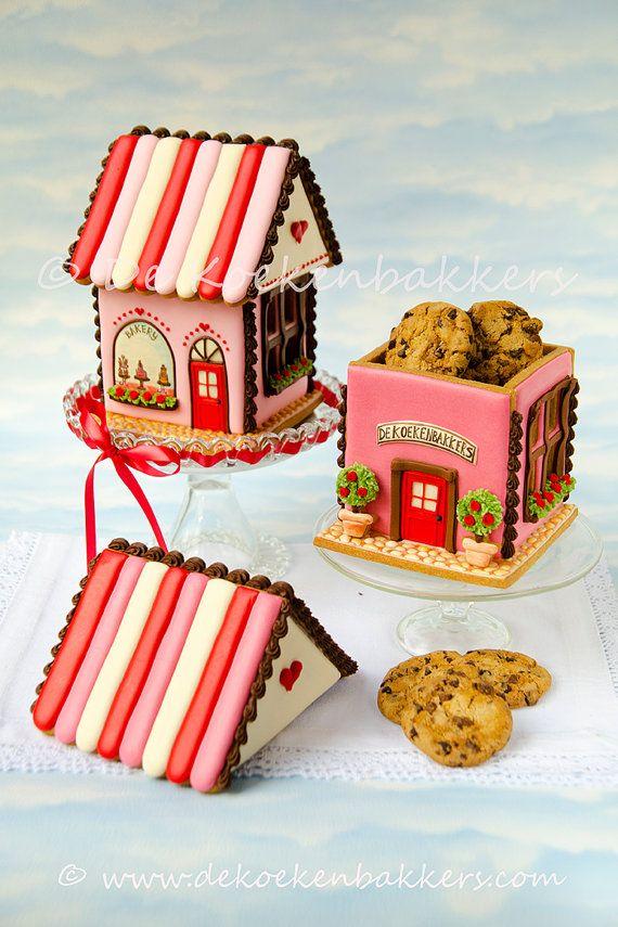 Gingerbread House Cookie Jar Cookie Cutter door 3DCookieCutterShop