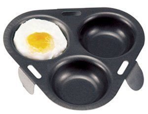 Norpro 973 Nonstick Egg Poacher by Norpro. $9.30. Nonstick finish for easy removal and easy clean-up. Measures 6-1/4-inch/16cm diameter. Hand washing recommended. Unique design makes poaching eggs easy. Nonstick finish for easy removal and easy clean-up. Sits on 3 legs in a skillet or pan. Poach 1 - 3 eggs. Measures 6-1/4-inch/16cm diameter. Hand washing recommended.