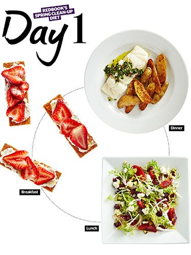 REDBOOK's Delicious New Spring Clean-Up Diet.  I am not a fan of diets however the food in this one is fresh and clean. Add them to your daily diet,