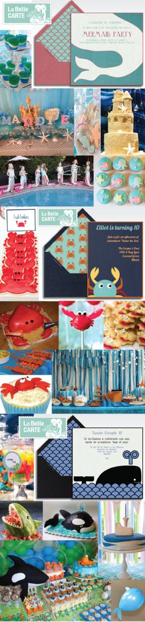 Under The Sea, Party, Online Invitations, Electronic Cards, Baby Shower, Under The Sea, Mermaid Party, Whale Party