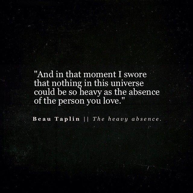 Beau Taplin | The heavy absence.