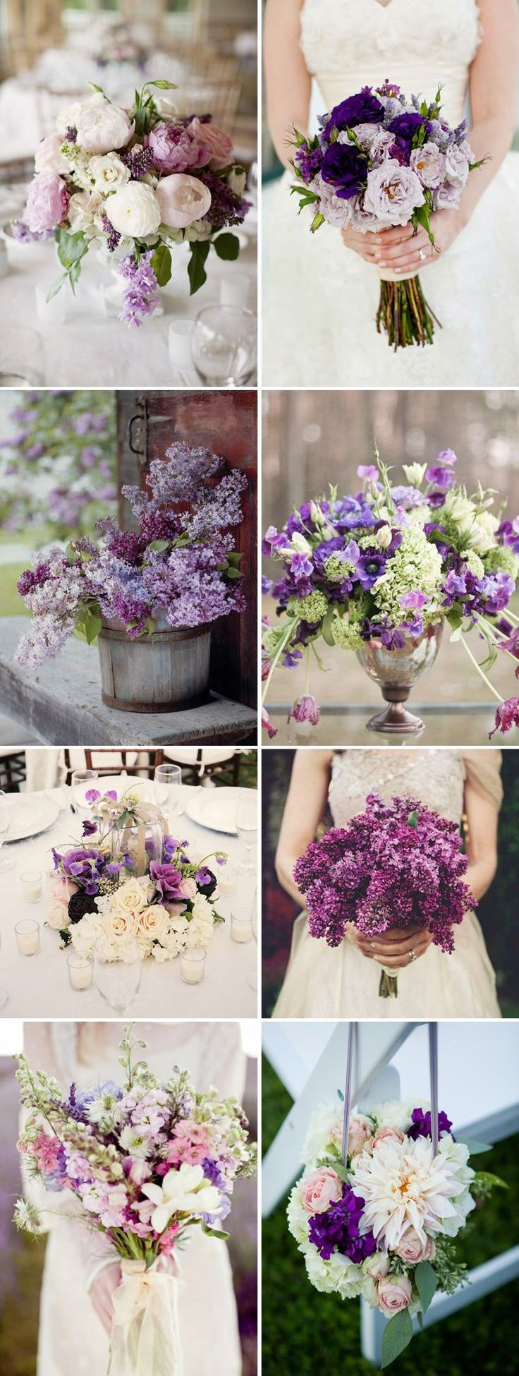 Purple Wedding Ideas - Plum Posies Floral Wedding http://roxyheartvintage.com
