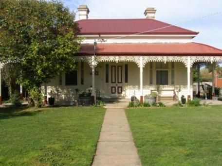 White Victorian house with red roof. 15 Prentice Street Nagambie Vic 3608 - House for Sale #115839315 - realestate.com.au