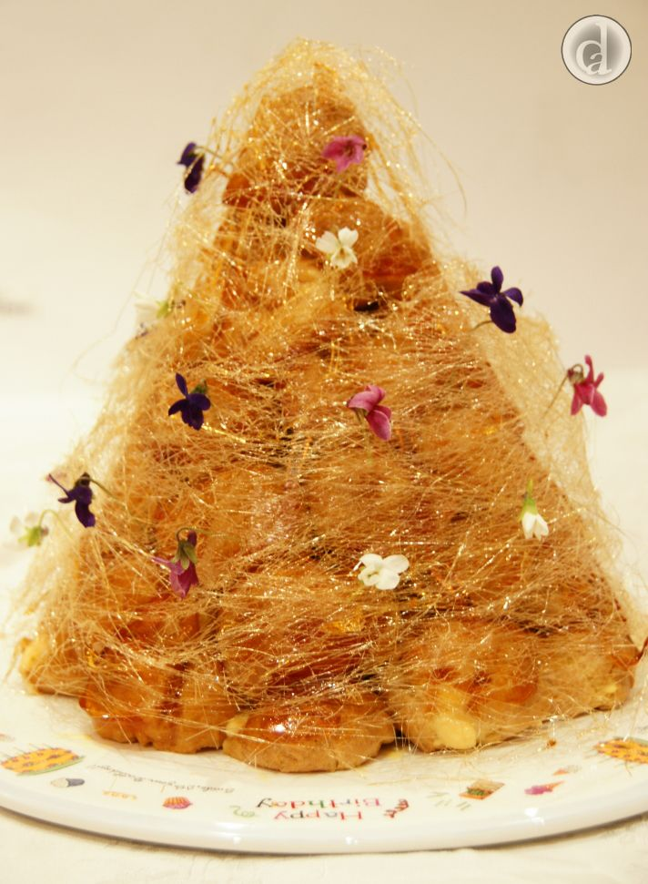 This gluten free Croquembouche was absolutely delicious. The family simply loved it.