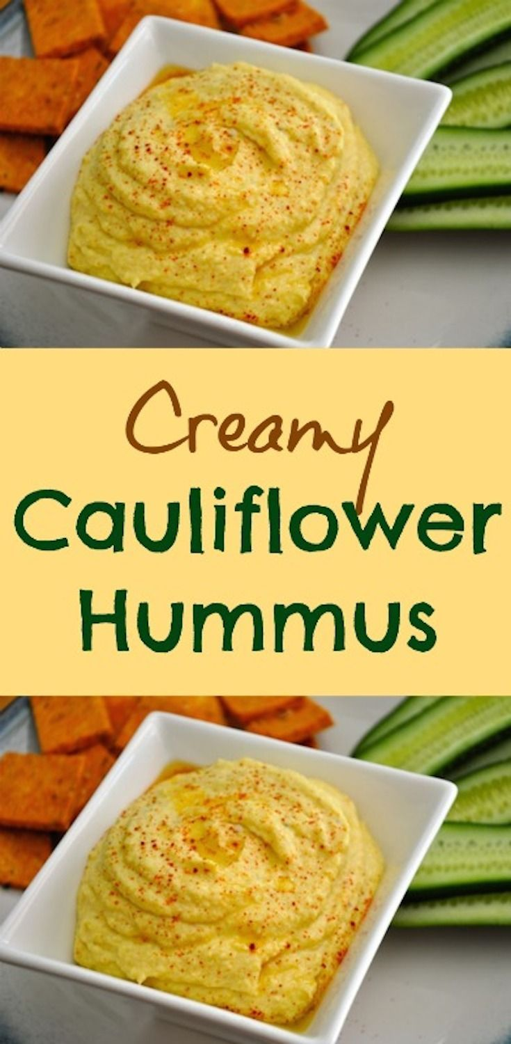 This Creamy Cauliflower Hummus recipe is so easy to make, healthy, and perfect for a snack. The entire family can enjoy it too. I love cauliflower recipes! #love #cauliflower #hummus #recipe #easy #healthy #glutenfree via @creativehealthyfamily