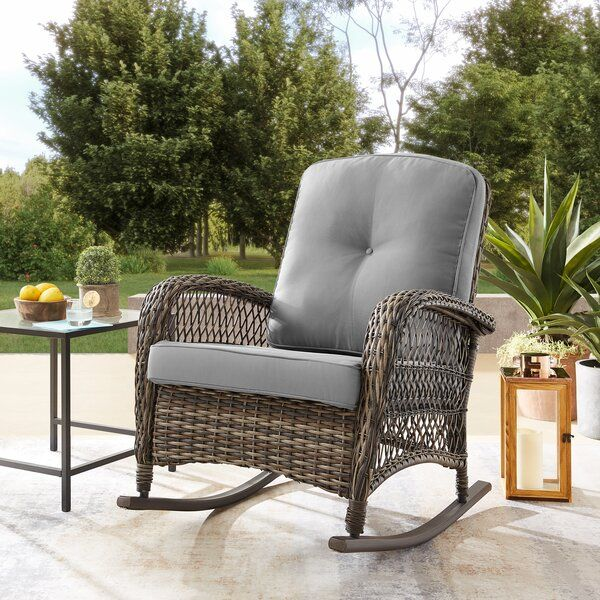 Yara Rocking Chair With Cushions Reviews Joss Main In 2020