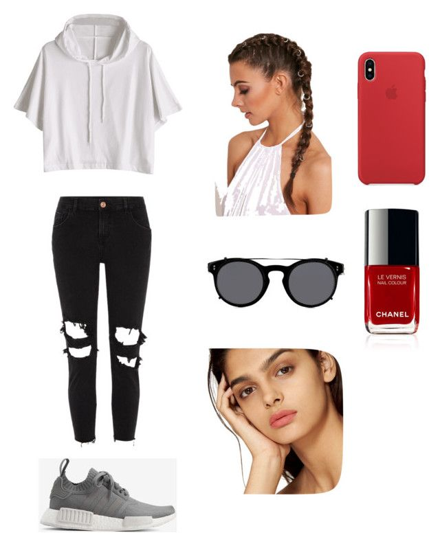"""""""Untitled #6"""" by cande-monier on Polyvore featuring River Island, adidas and Valentino"""