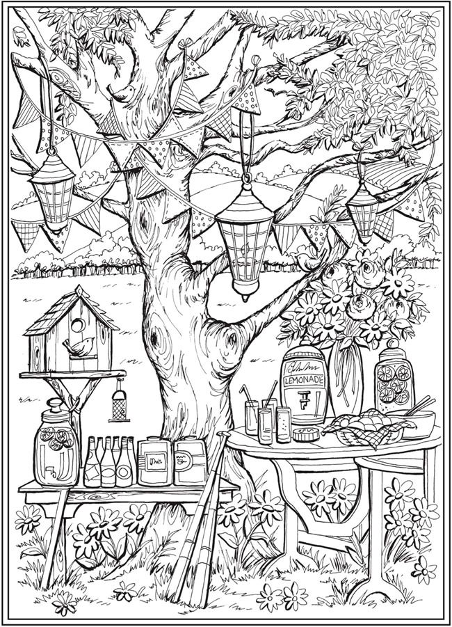 Page 1 Of 7 Country Charm A Creative Haven Coloring Book By Teresa Goodridge Welcome To Do Creative Haven Coloring Books Coloring Pages Garden Coloring Pages