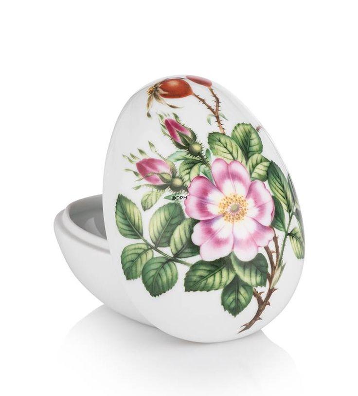 Bonbonniere with rose, lying, Royal Copenhagen Easter Egg 2015