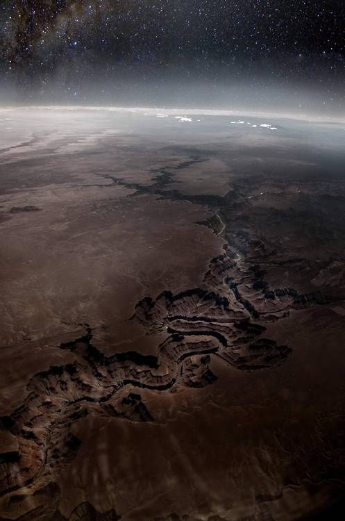 """tar-feathers: """" The Grand Canyon from space """""""