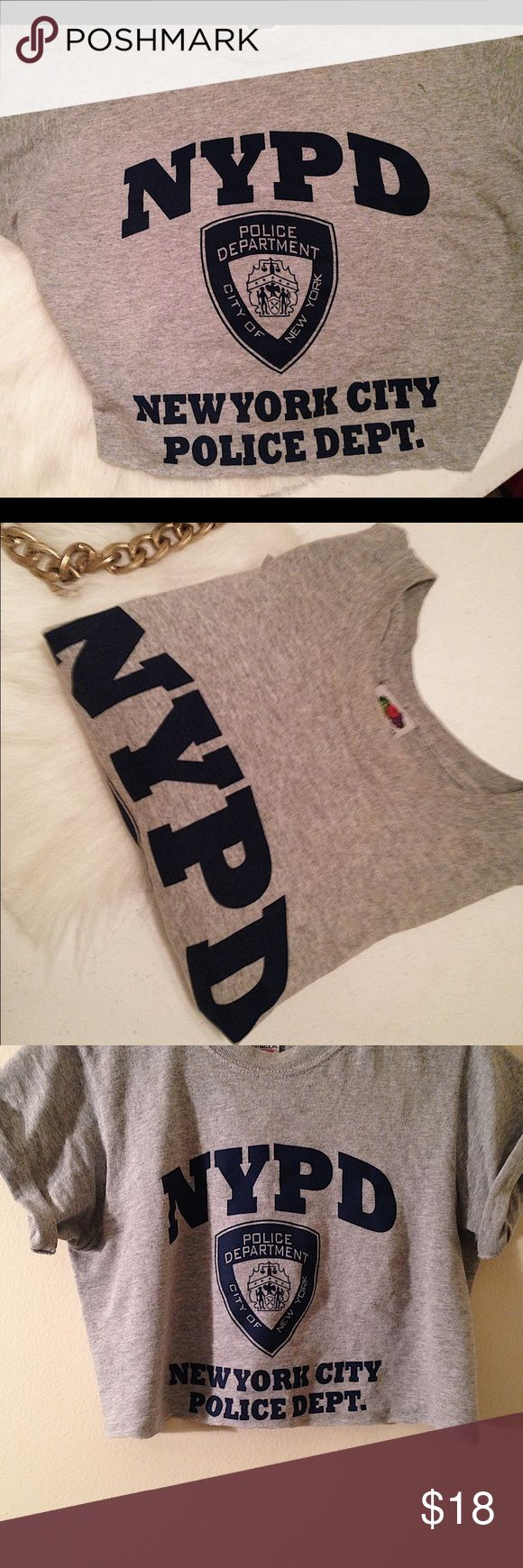 NYPD CUT OFF SHIRT Size small • cut off shirt • listed under LF for exposure LF Tops Crop Tops