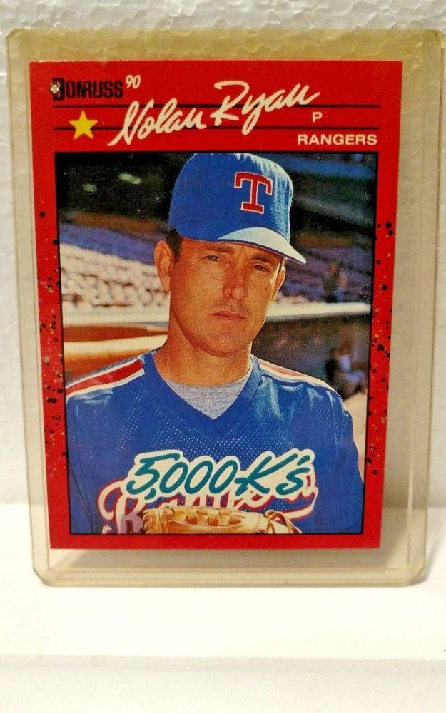 1990 Donruss Nolan Ryan Texas Rangers 659 Baseball Card Error 665 Back Texasrangers Texas Rangers Baseball Cards Baseball