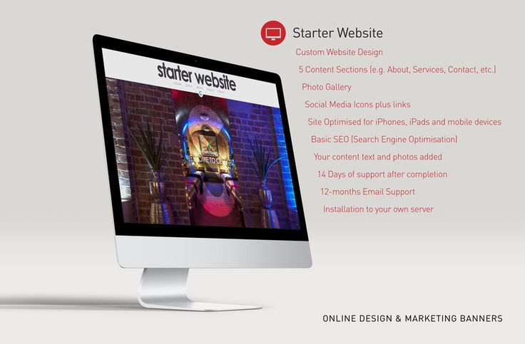 Custom Website - Starter Website - Including Set up - 5 Page Content - Photo Gallary - Social Media by GrupoConway on Etsy