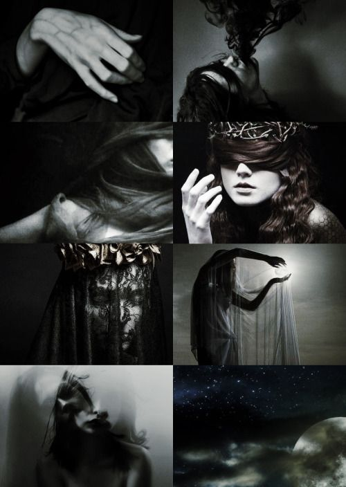 Endless List of Splendid Ladies: Mythology Nyx  Born of chaos, belonging to darkness, she is beautiful and terrible and feared by all. There is nothing more mysterious or more terrible or more glorious than the night