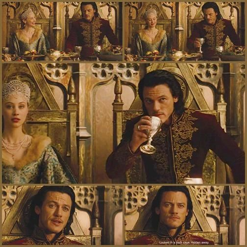 Mirena ( Sarah Gadon) & Vlad ( Luke  Evans) , Dracula Untold